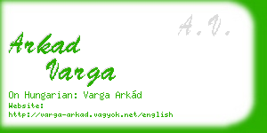 arkad varga business card